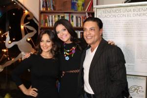 Osvaldo Rios, Barbara Serrano y Karla Monroig