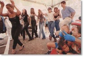 Choco Orta fue una de las figuras líderes cuando llegó la hora de bailar.