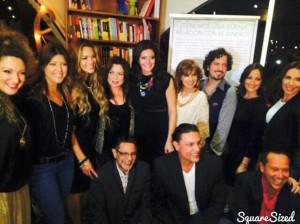 Osvaldo Rios en el lanzamiento del libro de Barbara Serrano.