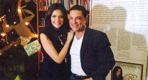 Osvaldo Rios junto a su comadre Bárbara Serrano Fotografía TVyNovelas.com